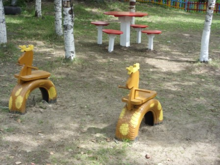 Игровое оборудование на участке детского сада своими руками